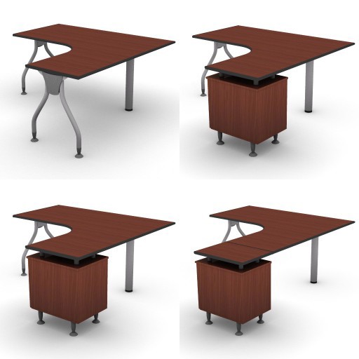 Cad 3D Free Model dvo B02-bull2  08-compact-desks-column-bull2