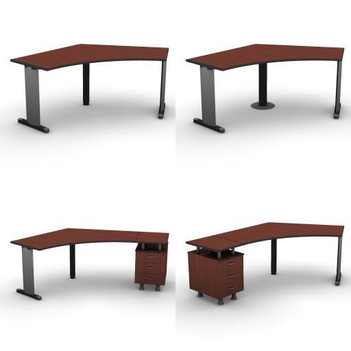 Cad 3D Free Model dvo B03-shock  06-shaped-desks-shock