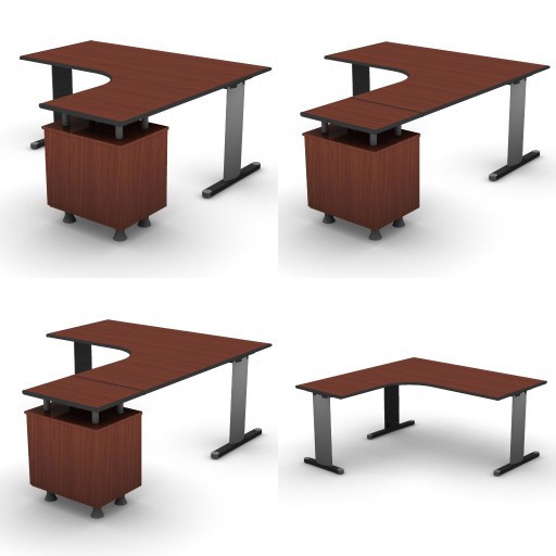 Cad 3D Free Model dvo B03-shock  07-compact-desks-shock