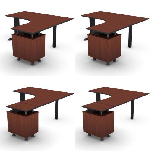 Cad 3D Free Model dvo B03-shock  08-compact-desks-slim-column-shock