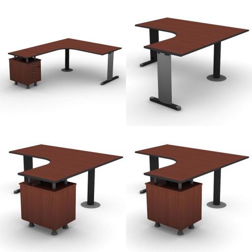 Cad 3D Free Model dvo B03-shock  09-compact-desks-column-shock