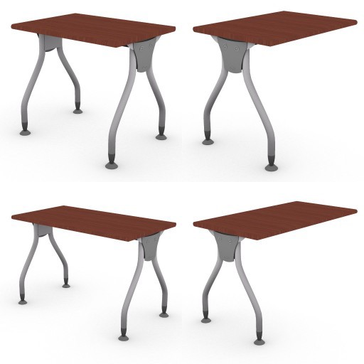 Cad 3D Free Model dvo C01-bull3  02-typing-tables-bull3