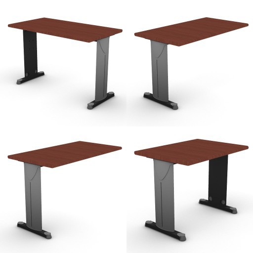 Cad 3D Free Model dvo C02-unik  02-typing-tables-unik
