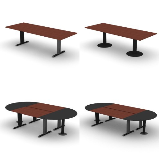 Cad 3D Free Model dvo C02-unik  14-conference-tables-unik