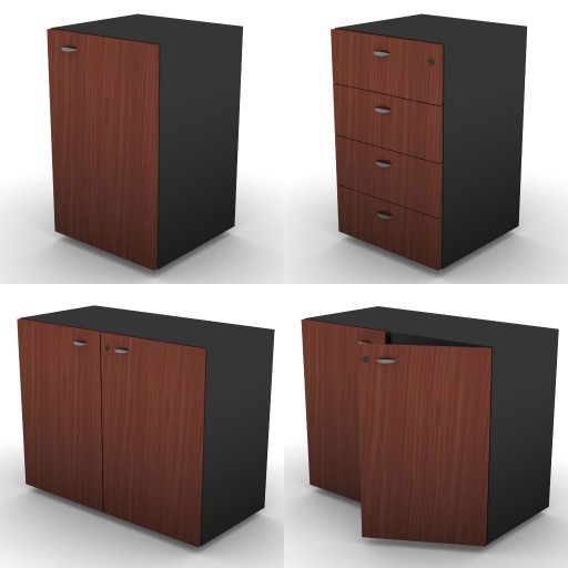 Cad 3D Free Model dvo E-kim  16-storage-units-h.73,5