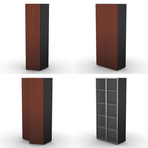Cad 3D Free Model dvo E-kim  18-storage-unitsh.206,5
