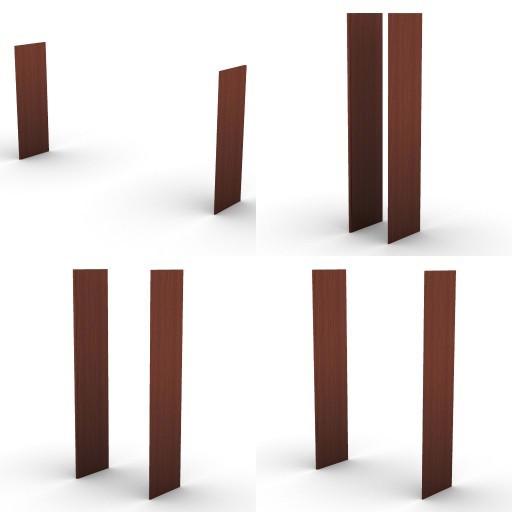 Cad 3D Free Model dvo E-kim  22-components-for-units-shelves
