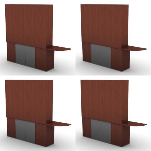 Cad 3D Free Model dvo F-dak  71-consoles+bookcases-dak