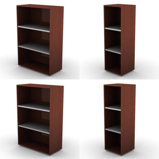 Cad 3D Free Model dvo F-dak  80b-storage-units-h.136-metal-shelves-dak