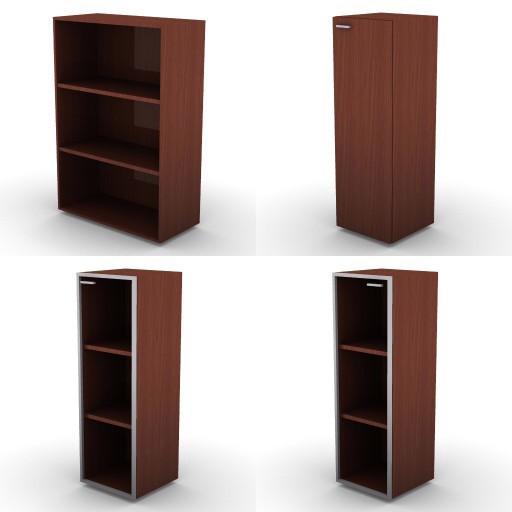 Cad 3D Free Model dvo G-storage_on-palm  07b-storage-units-h.136-metal_shelves-on_palm