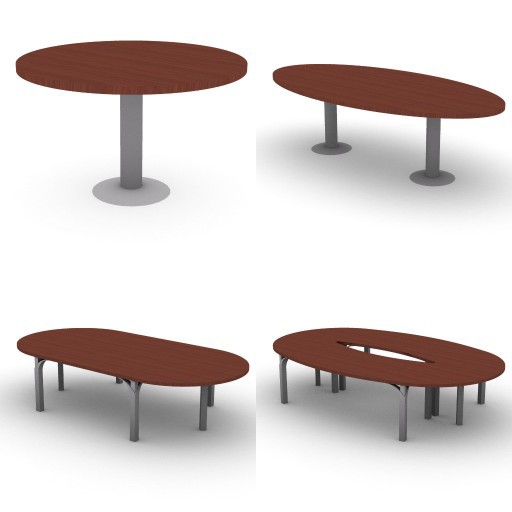 Cad 3D Free Model dvo I-palm_palm crystal  7-meeting_tables-palm