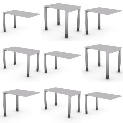 Cad 3D Free Model dvo Quattro-temporary  02-typing tables-quattro