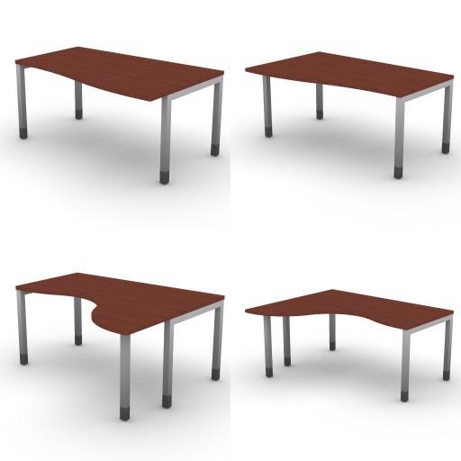 Cad 3D Free Model dvo Quattro30-temporary  06-shaped-desks-quattro30