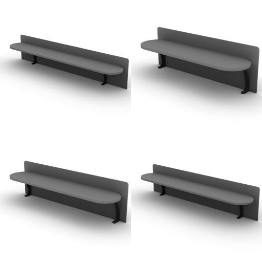 Cad 3D Free Model dvo Quattro30-temporary  14-frontal_shelves-quattro30