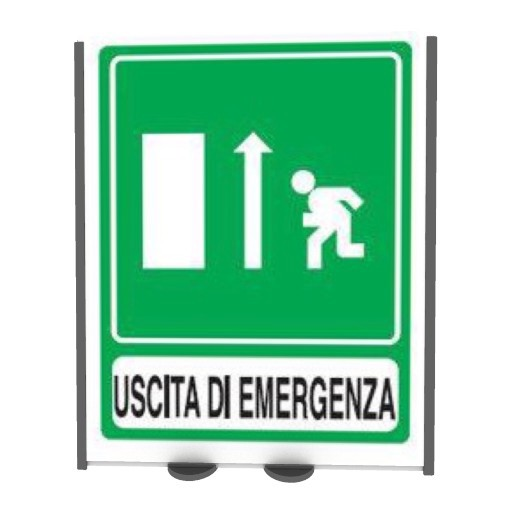 Cad 3D Free Model free Segnaletica  emergency_exit 2