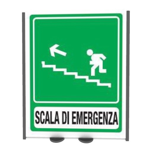 Cad 3D Free Model free Segnaletica  scale emergency_left