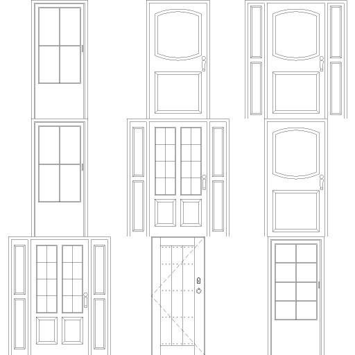 Cad 3D Free Model free Simboli_2d  doors