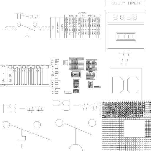 Cad 3D Free Model free Simboli_2d  electrics