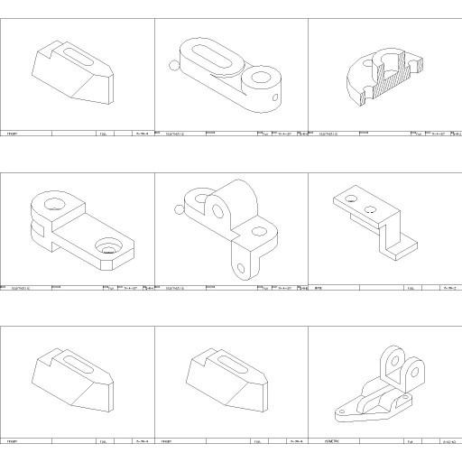 Cad 3D Free Model free Simboli_2d  flanges