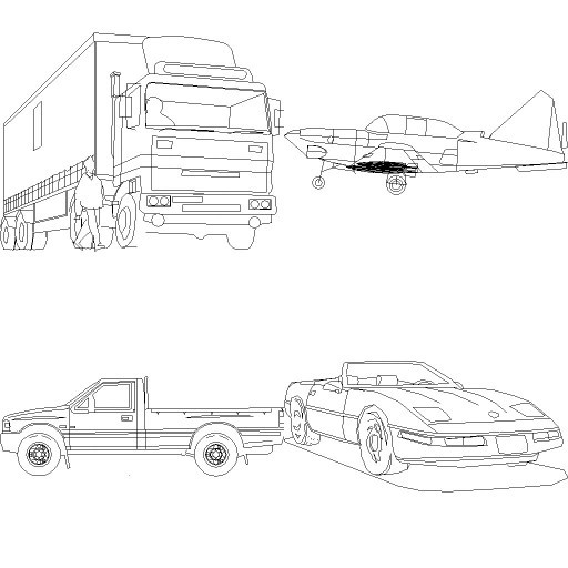Cad 3D Free Model free Simboli_2d  vehicles