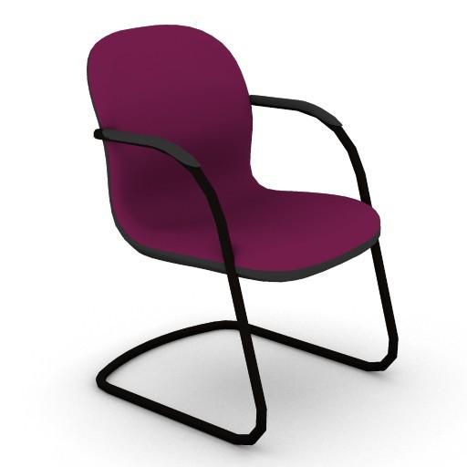 Cad 3D Free Model HermanMiller  ambi_side_chair