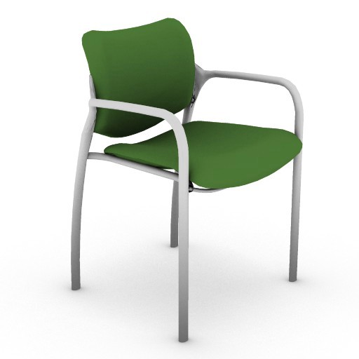 Cad 3D Free Model hermanmiller  aside_stacking_chair