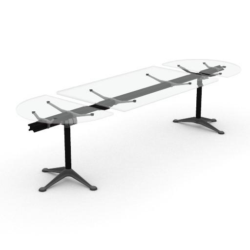 Cad 3D Free Model HermanMiller  burdick_dining_table