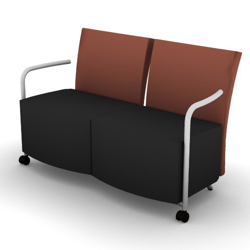 Cad 3D Free Model HermanMiller  celeste_2-seat_couch