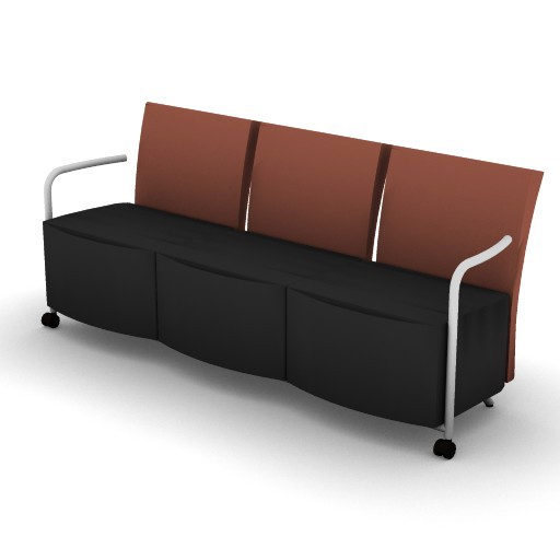 Cad 3D Free Model hermanmiller  celeste_3-seat_couch