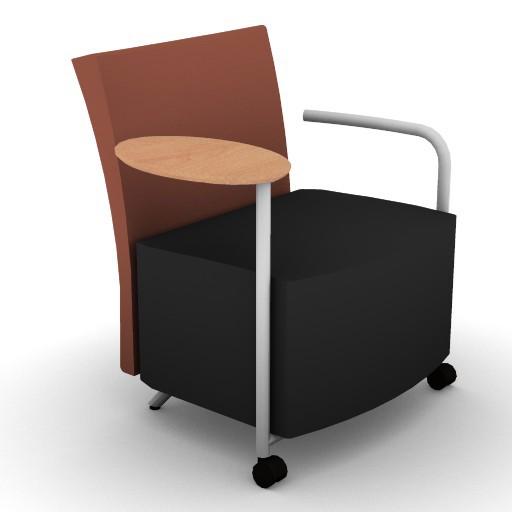 Cad 3D Free Model HermanMiller  celeste_lounge_tabletright