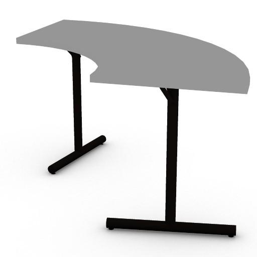 Cad 3D Free Model HermanMiller  clt_crescent_table