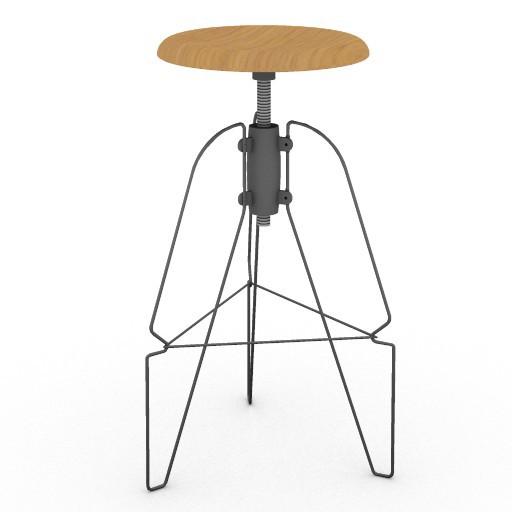 Cad 3D Free Model HermanMiller  covey_model6_stool