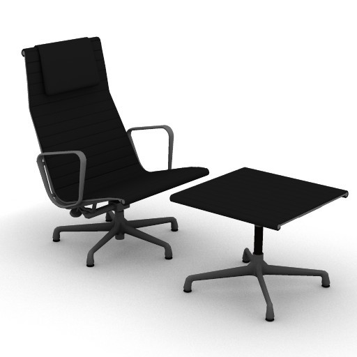 Cad 3D Free Model hermanmiller  eames_aluminum_lounge_chair