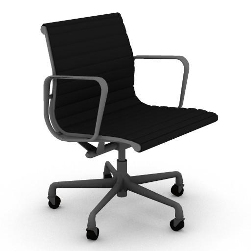 Cad 3D Free Model HermanMiller  eames_aluminum_management_chair