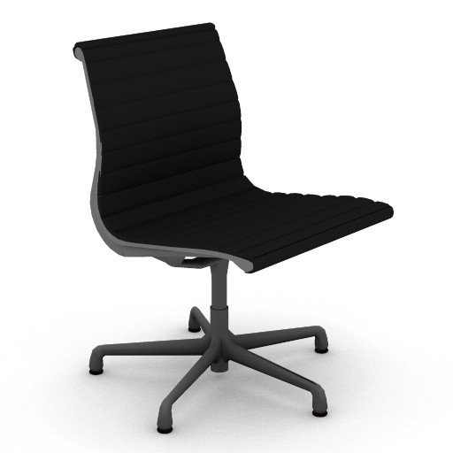 Cad 3D Free Model hermanmiller  eames_aluminum_side_chair