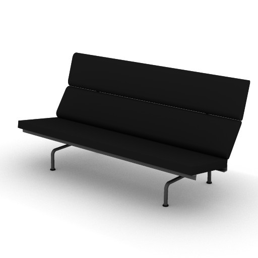 Cad 3D Free Model hermanmiller  eames_compact_sofa