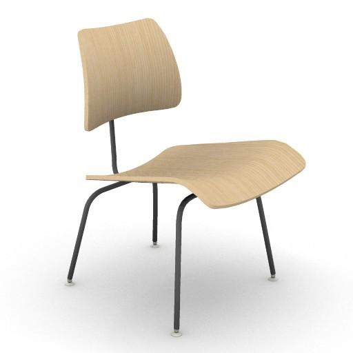 Cad 3D Free Model HermanMiller  eames_dining_chair_metal_legs