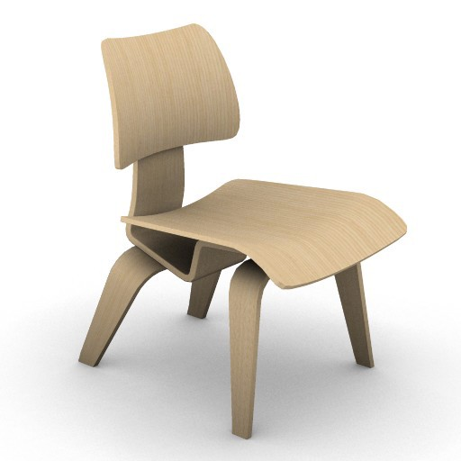 Cad 3D Free Model hermanmiller  eames_dining_chair_wooden_legs