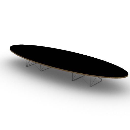 Cad 3D Free Model HermanMiller  eames_elliptical_table
