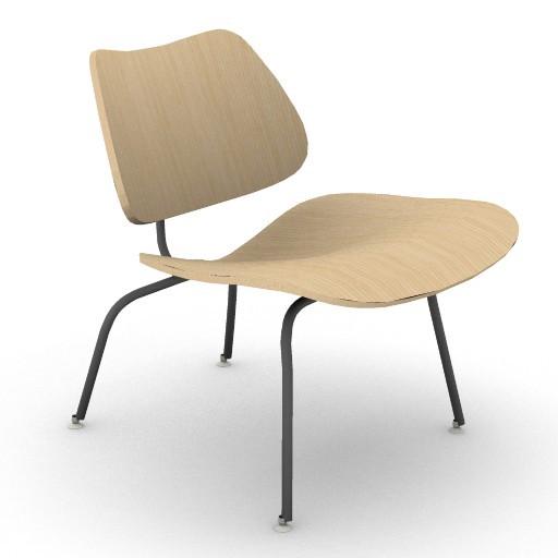 Cad 3D Free Model HermanMiller  eames_lounge_chair_metal_legs_3d