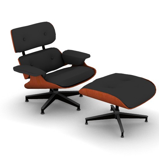 Cad 3D Free Model hermanmiller  eames_lounge_ottoman