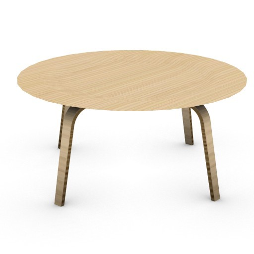 Cad 3D Free Model HermanMiller  eames_molded_plywood_table