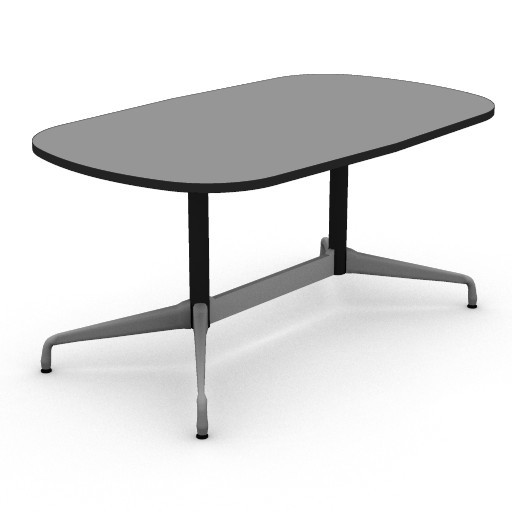 Cad 3D Free Model hermanmiller  eames_oval_table_36x60_3d