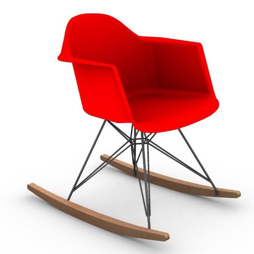 Cad 3D Free Model HermanMiller  eames_plastic_arm_chair_rocker_base