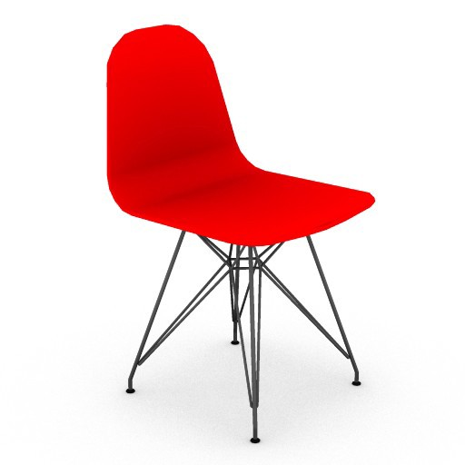 Cad 3D Free Model HermanMiller  eames_plastic_side_chair_wire_base