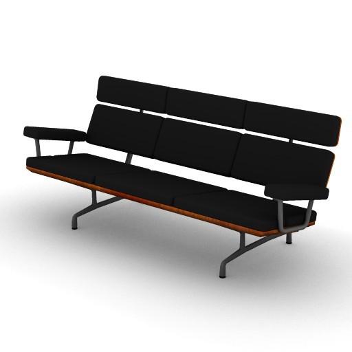 Cad 3D Free Model HermanMiller  eames_sofa