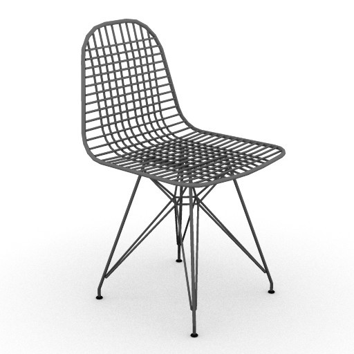 Cad 3D Free Model HermanMiller  eames_wire_chair