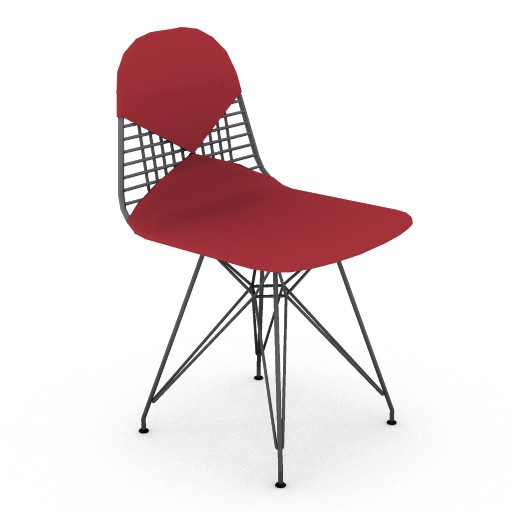 Cad 3D Free Model HermanMiller  eames_wire_chair_bikini_pad