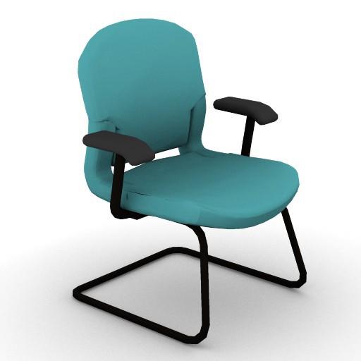 Cad 3D Free Model HermanMiller  equa2_side_chair
