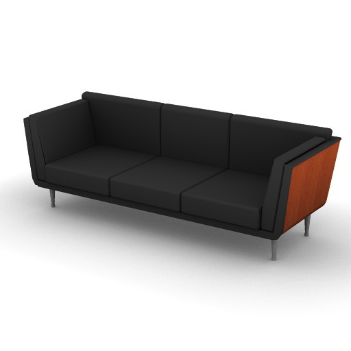 Cad 3D Free Model HermanMiller  goetz_sofa_3d